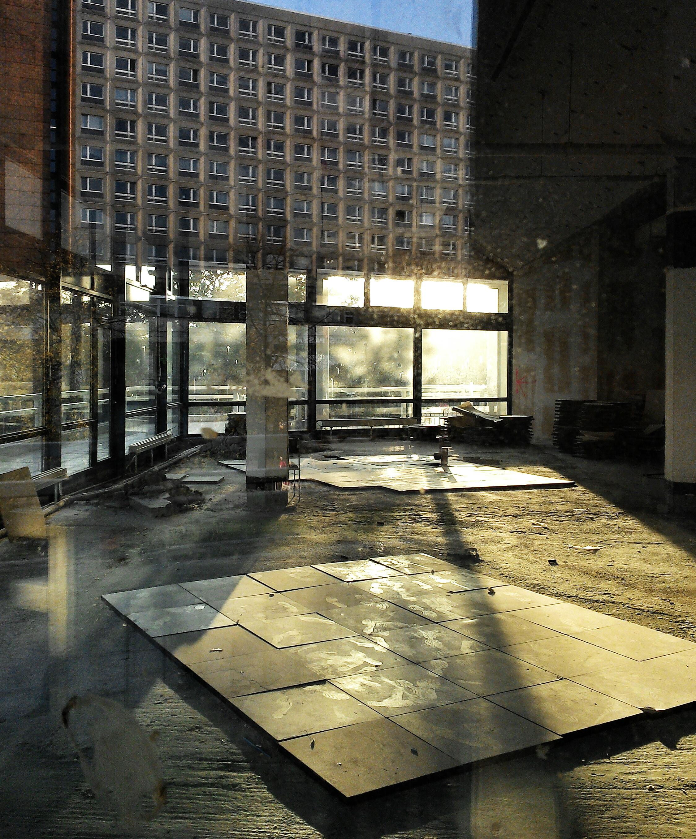 sunlight on broken glas